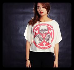 Thirty Seconds to Mars Shirt Off Shoulder Tops Women Cropped T-Shirt Free Size One Size Fits All