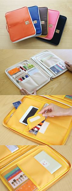 This note pouch organizer is absolutely perfect for school! There are so many nifty pockets to store all kinds of school supplies. There are pockets where you can slide in a student planner, notes, as well as protecting homework assignments that always seems to attract the puppy! There's even a pocket to store pencils with a flap to protect the ends too! The outside front & rear has pockets for even more storage. Learn more all about this adorable note pouch organizer at mochithings.com!