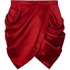 Falda de seda Balmain x H&M la colección completa ❤ liked on Polyvore featuring skirts