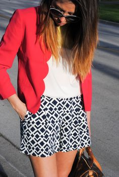 Scalloped, patterned, patriotic...only Ann Taylor