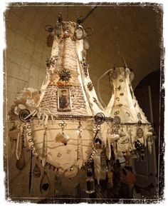 altered art chandelier--wow gorgeous by leigh
