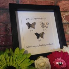 1630-Butterfly family black and white