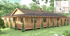 The Cheyenne is a beautiful one story log home floor plan, that has all the space you need to live c ... Log Cabin Homes, Log Cabin Floor Plans, Log Cabin Kits, Log Home Plans, Log Cabins, House Floor Plans, Cabin Ideas, Small Cabins, 3 Bedroom Floor Plan