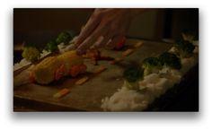 Tim's crime scene reenactments with food