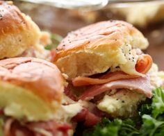 Chicken Cordon Bleu Sliders... These are quick, easy and a crowd favorite! The flavor is perfection!