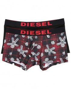 Sous-vêtement · Pack de boxers tartan rouge et noir Diesel pour homme   diesel  boxer  tartan d33095efa40