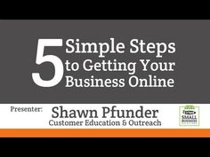 GoDaddy Presents - Small Business Webinar: Get Your Business Online in 5 Simple Steps - YouTube