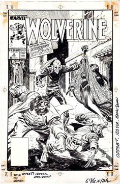 Wolverine #4 Cover by John Buscema & Al Williamson Comic Art