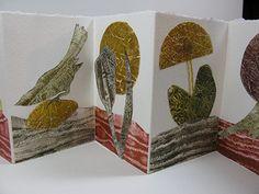 Roberta Warshaw, collaged gelatin prints in accordion book