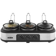 Bella® Cook and Serve 3 Pot Slow Cooker - from Lakeland