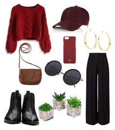"""""""Red"""" by annadamr on Polyvore featuring beauty, Acne Studios, Miss Selfridge, Chicwish, Aéropostale, rag & bone, Native Union and Lana"""