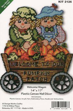 Welcome Wagon Plastic Canvas Wall Hanging by needlecraftsupershop, $19.99