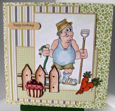 """Gardening Gus"" Digi stamp http://www.doctor-digi.com/digital-stamp-men/-gardening-gus-cheap-digital-stamp Card by Ruth H http://weirdcatcardsnstuff.blogspot.co.uk/"