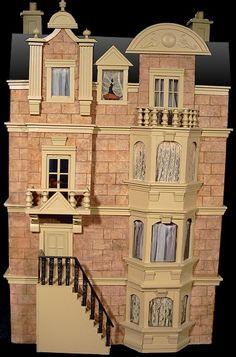 Dollhouse Number 7 - Brownstone awesom dollhous, brownston hous, dollshous, dollhous number, miniatur room, doll houses, stone dollhous, dollhous 112, miniatur hous