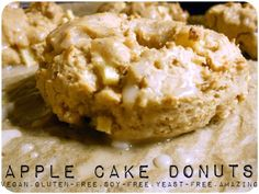 Apple Cake Donuts - vegan, gluten-free, soy-free, yeast-free AND the most delicious thing I've ever made!
