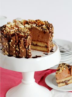 Bananen-Nutella Torte