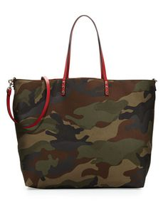 Camouflage+Reversible+Tote+Bag,+Multicolor+by+Valentino+at+Neiman+Marcus.