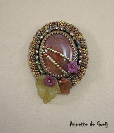 Bead embroidered brooch  Autumn Days by JirikiDesigns on Etsy, €70.00
