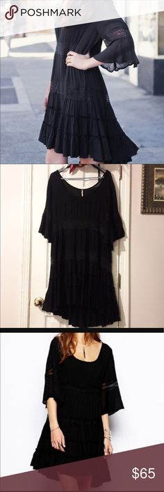 Free People Dream Cloud Dress Large Awesome boho dress! Great flowy bottom- no damage or snags. Dress is in perfect condition! Free People Dresses Mini