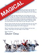 Santa and his Reindeer are on the way! The perfect design for your Christmas Eve or Stocking Stuffer Letter from Santa! || Letters from Santa || www.easyfreesantaletter.com