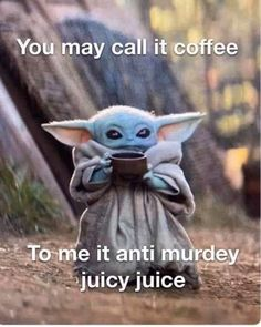 Starwars or coffee? Yoda Meme, Yoda Funny, Coffee Is Life, I Love Coffee, Coffee Coffee, Coffee Drinks, Funny Memes, Hilarious, Just For Laughs