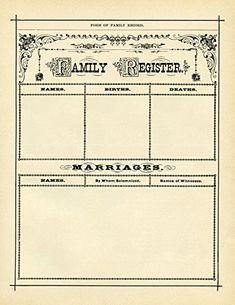 Family Register (blank) : circa 1800 : Suitable for Frami... https://www.amazon.com/dp/B071VZRXXH/ref=cm_sw_r_pi_dp_x_VEehAbA7QN6YC