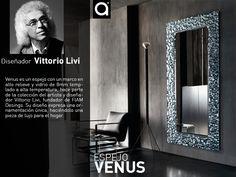 Conoce los productos de la prestigiosa firma Italiana FIAM: Diseños elegantes, únicos y sofisticados para ti; como el espejo Venus del artista Vittorio Livi, que lo encuentras en www.matisses.co