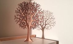 Lasercut Wooden Tabletop Tree 1 by baraboda on Etsy