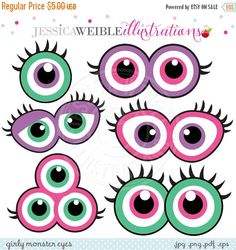 EN vente Monster Girly yeux mignon anniversaire par JWIllustrations