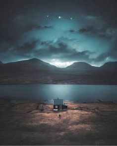 Faroe Islands. Photo: @juusohd #wanderlog #nature #landscape #scenery #explore #travel #adventure #photography #adventure #faroeislands #cabin #night