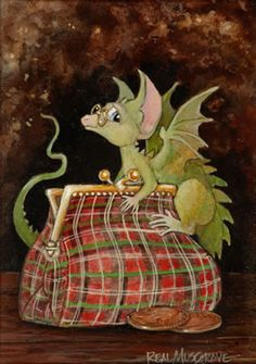 By my dear friend since high school, Real Musgrave....the pocket dragon creator.