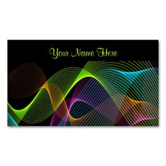Modern Abstract  Colourful Swirling Lines Design Double-Sided Standard Business Cards (Pack Of 100). This is a fully customizable business card and available on several paper types for your needs. You can upload your own image or use the image as is. Just click this template to get started!