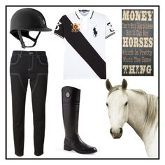 """""""#124 equestrian"""" by xjet1998x ❤ liked on Polyvore featuring Natural Curiosities, Polo Ralph Lauren, Givenchy and Tory Burch"""