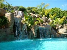 amazing pools and backyards   Backyard pool, deck w/views, BBQ, 2 water slides & seating for 20.