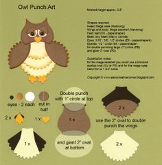 Owl #punchart - by bjl see in another pin the finished card...  visit me at http://stampingwithbibiana.blogspot.com/
