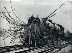 """A steam train after a boiler explosion."" http://www.megalextoria.com/wordpress/index.php/category/science-fiction/steampunk/"