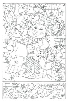Hidden Pictures Free Printable Object Games For Christmas Puzzle Adults schule Christmas Puzzle, Christmas Games, Christmas Activities, Christmas Printables, Activities For Kids, Baby Activites, Colouring Pages, Coloring Pages For Kids, Coloring Books