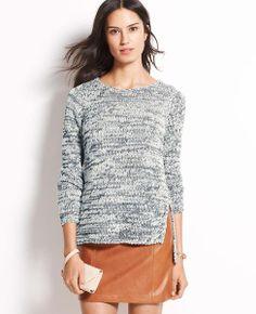 Marled Stitched Sweater