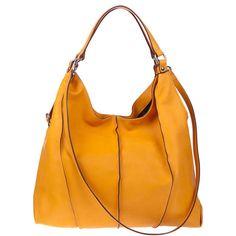 ASIA-BELLUCCI-Italian-Made-Natural-Orange-Leather-Designer-Shoulder-Hobo-Bag