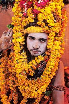 A young sadhu at Kumbh Mela.