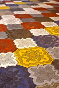 Colorful Spanish floor tiles