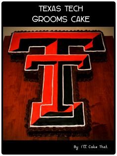 Texas Tech grooms cake By: I'll Cake That!