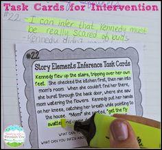 Task cards for on-grade-level reading skills