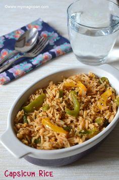 Capsicum Rice – Capsicum Masala Rice