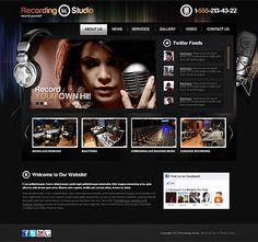 like and click to receive music band website template free you