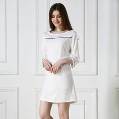 2016 Summer New Female Sleepwear Solid Cotton Loose Lounge Women Sleepshirt Three Quarter Sleeve Length Brief Nightdress     Tag a friend who would love this!     FREE Shipping Worldwide     Buy one here---> http://oneclickmarket.co.uk/products/2016-summer-new-female-sleepwear-solid-cotton-loose-lounge-women-sleepshirt-three-quarter-sleeve-length-brief-nightdress/