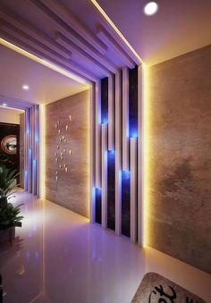 extraordinary ceiling design ideas for all rooms 14 Home Room Design, Home Interior Design, Living Room Designs, Kitchen Interior, Kitchen Design, House Ceiling Design, Wall Decor Design, Home Entrance Decor, Plafond Design