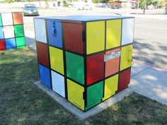 painted utility box - Google Search