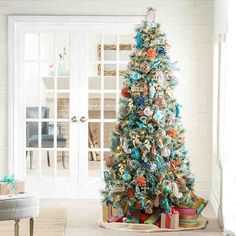 My dream tree: Flocked Christmas Trees | Christmas All Through My ...