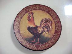 4\  Painted Decorative Rooster Ceramic Plate Sabra designs //.amazon.com/dp/B0050JR4OG/ref\u003dcm_sw_r_pi_dp_Ou-cub0852Q6Y | dinning room | Pinterest ... & 4\